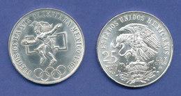 Mexiko Silber-Münze Olympische Spiele Mexico-City 1968, 22,5g 720er Silber - Messico