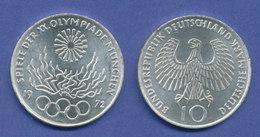 Olympische Spiele 1972, 10DM Silber-Gedenkmünze Olympisches Feuer  -  D - [ 7] 1949-… : RFA - Rep. Fed. Tedesca