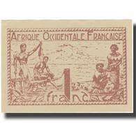 Billet, French West Africa, 1 Franc, 1944, 1944, KM:34b, SPL - West-Afrikaanse Staten