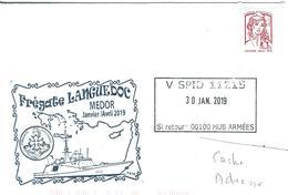 13005 - V SPID 11215 - Frégate LANGUEDOC - Mission MÉDOR 2019 - Posta Marittima