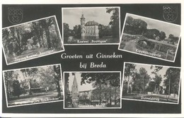 Ginneken Bij Breda, Groeten Uit Ginneken  (type Fotokaart) - Breda