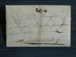 D1 - LAC Acrostiche Non Datée (sans Doute XVIIIe) Envoyée Au Mans - Marque Postale LAON - 1701-1800: Precursores XVIII