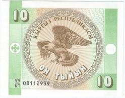 Kirguistán - Kyrgyzstan 10 Tyiyn 1993 Pk 2 B UNC - Kirguistán