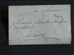 D1 - LAC Acrostiche Non Datée (sans Doute XVIIIe) Envoyée Au Mans - Marque Postale DE VERSAILLES Peu Visible - 1701-1800: Precursores XVIII