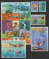 Gambia 1996 Olympic Games Atlanta, Football Soccer, Volleyball Etc. Set Of 4 + 2 Sheetlets + 2 S/s MNH - Ete 1996: Atlanta