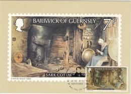 GUERNSEY - MiNr: 213   Maxicard Gemälde Peter Le Lievre - Guernsey