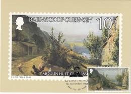 GUERNSEY - MiNr: 214   Maxicard Gemälde Peter Le Lievre - Guernsey