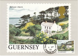 GUERNSEY 1984 - MiNr: 291  Maxicard Belvoir Herm - Guernsey