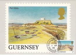 GUERNSEY 1985 - MiNr: 326  Maxicard Fort Grey - Guernsey