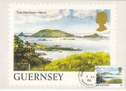 GUERNSEY 1985 - MiNr: 328  Maxicard Hafen Herm - Guernsey