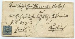Altdeutschland Bayern Brief Burgau Augsburg 1866 - Bavière