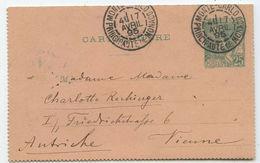 Monaco Kartenbrief Monte-Carlo Wien Österreich 1895 - Monaco