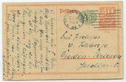 Deutsches Reich Orts GA Postkarte Dresden 1922 - Allemagne