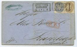 Altdeutschland Preussen PD Brief Stettin Fraserburgh Schottland 1866 - Prusse