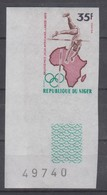 NIGER 1973 POLE VAULT IMPERFORATED MARGINAL - Jumping