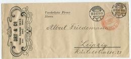 Deutsches Reich Zensur Brief Konstanz Leipzig 1917 - Allemagne