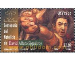Ref. 343748 * MNH * - MEXICO. 1996. CENTENARIO DEL NACIMIENTO DE DAVID ALFARO SIQUEIROS - Mexico