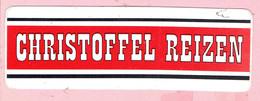 Sticker - CHRISTOFFEL REIZEN - Autocollants