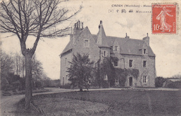 CPA 56 @ CADEN En 1912 - Manoir Desservi Par La Gare Ferroviaire De MALANSAC De La Ligne De Savenay à Landerneau - Francia