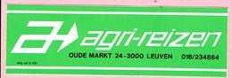 Sticker - AGRI REIZEN - Oude Markt 24 Leuven - Autocollants