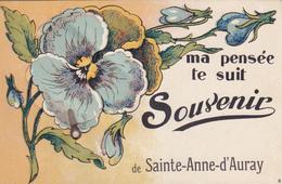 CPA 56 @ CARTE A SYSTEME - Ma Pensée Te Suit Souvenir De Sainte Anne D'Auray - Superbe état ! - Sainte Anne D'Auray