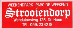 Sticker - WEEKENDPARK Strooiendorp Wenduinesteenweg DE HAAN - Autocollants
