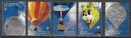 OCB Nr 4560/64 Ballon Balloon Montgolfière - Complete Set - Belgien
