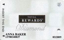 Harrah's Casino Multi-Property - TR Diamond Slot Card @2007 / 12 Casino Logos - Casino Cards