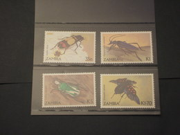 ZAMBIA - 1986 INSETTI 4 VALORI - NUOVI(++) - Zambia (1965-...)