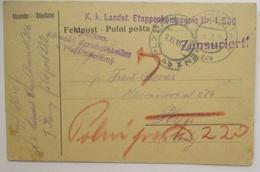 Österreich Ungarn Zensur Feldpost 1915 KuK Landsturm Etappen K.1/506 (48970) - Weltkrieg 1914-18