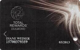 Harrah's Casino Multi-Property - TR Diamond Slot Card @2012 - 4 Lines Text / Last Starts IN / QUAD Added - Casino Cards