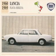 CARTE FICHE - LANCIA FLAVIA BERLINA - UTILITARIA - ANNO 1960-1969 - CON CARATTERISTICHE - LEGGI - Automobili