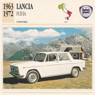 CARTE FICHE - LANCIA FULVIA - UTILITARIA - ANNO 1963-1972 - CON CARATTERISTICHE - LEGGI - Automobili