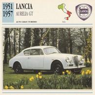CARTE FICHE - LANCIA AURELIA GT - AUTO GRAN TURISMO - ANNO 1951-1957 - CON CARATTERISTICHE - LEGGI - Cars