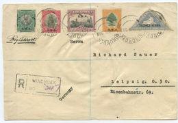 Südwestafrika R Brief Windhuk Leipzig 1928 - Afrique Du Sud (...-1961)