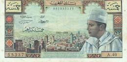Billet  5 Dirhams Maroc 1969 - Morocco