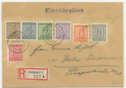 SBZ R Brief Leipzig Berlin-Weissensee 1946 - Zone Soviétique