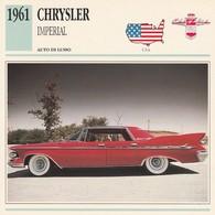 CARTE FICHE - CHRYSLER IMPERIAL - AUTO DI LUSSO - ANNO 1961 - CON CARATTERISTICHE - LEGGI - Automobili