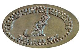 04576 GETTONE TOKEN JETON ELONGATED GRAND CANYON CAVERNS ARIZONA USA DINOSAUR - Elongated Coins