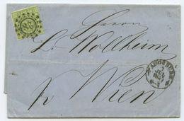 Altdeutschland Bayern Brief Augsburg Wien Österreich 1857 - Bavière