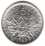 5 Francs Semeuse Argent 1963 - France