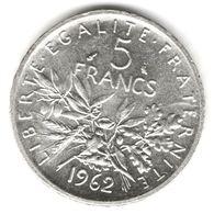 5 Francs Semeuse Argent 1962 - France