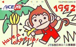 Télécarte Japon * JTB * (499) * PHONECARD JAPAN * TELEFONKARTE * - Publicité