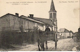 MILITARIA  GUERRE 1914-18  CUPERLY  L' Eglise  ..... - Weltkrieg 1914-18