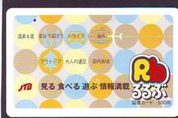 Télécarte Japon * JTB * (511) * PHONECARD JAPAN * TELEFONKARTE * - Publicité