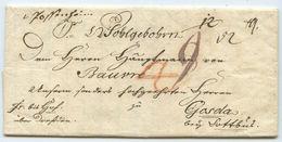 Altdeutschland Vorphila Brief Castell Possenheim Gosda 1789 - Allemagne