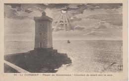 CPA Le Conquet - Phare De Kermorvan - Coucher De Soleil Sur La Mer - Le Conquet