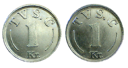 01262 GETTONE TOKEN JETON DENMARK TVS. C 1 KR. - Unclassified