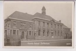 CARTE PHOTO DE TOTTENHAM FAUBOURG DE LONDRES - COUNTY SCHOOL - 2 SCANS - - London Suburbs