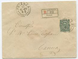 Italien R Brief Potenza Camna 1889 - 1878-00 Humbert I